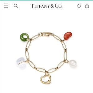 Tiffany & Co. Elsa Peretti Gold Charm Bracelet